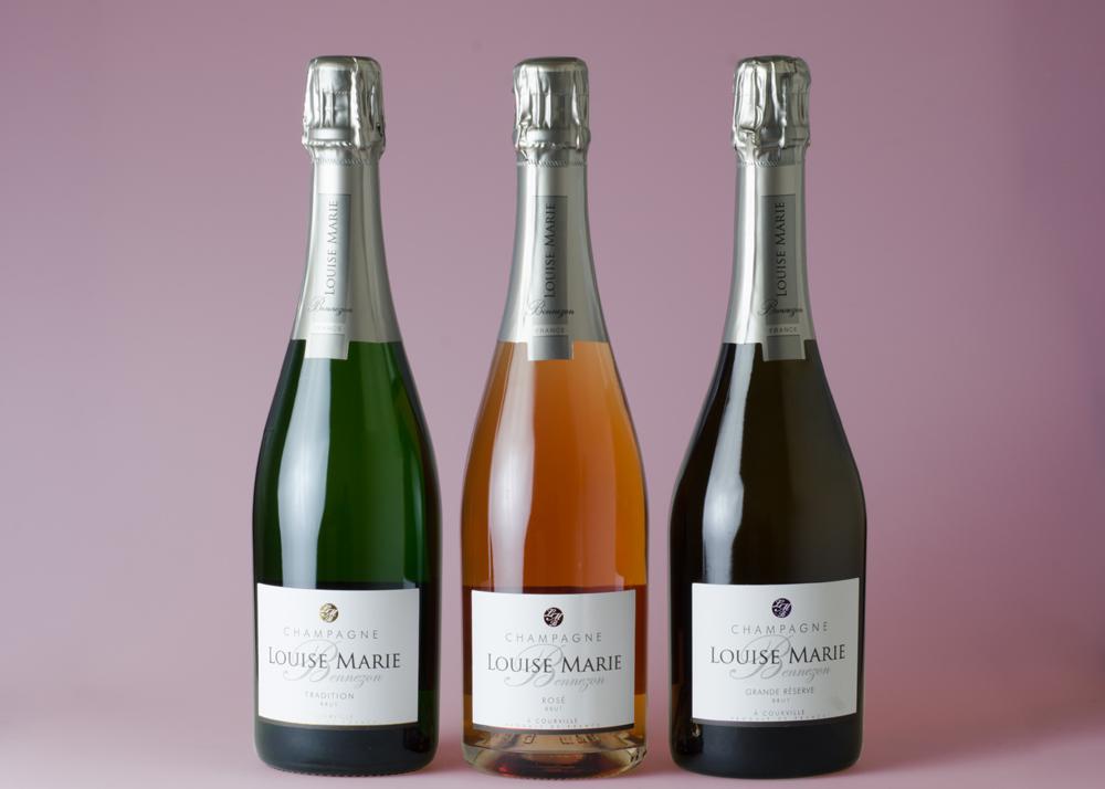Champagne Louise Marie Bennezon Rosé Brut et Grande Réserve